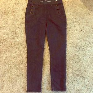 Loft Skinny jeans with sailor buttons